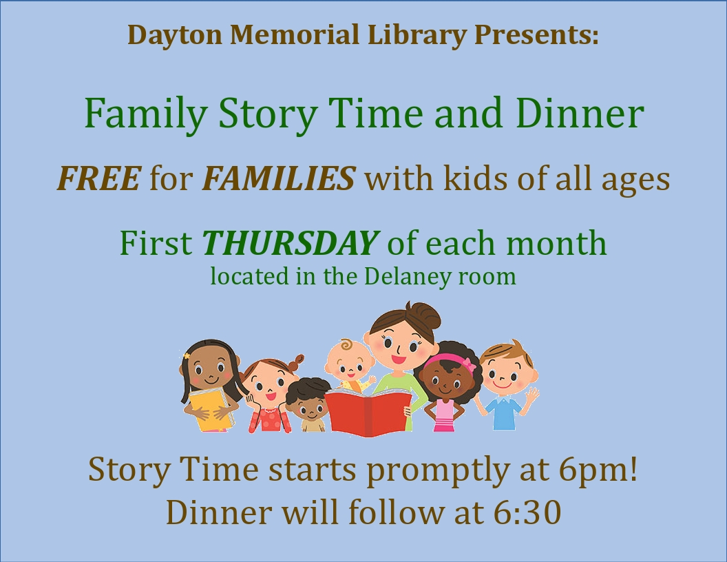 Family Storytime and Dinner @ Delany Building
