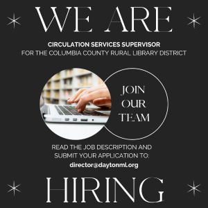 We are accepting applications for the position of Public Services Coordinator