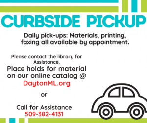 Curbside pickup for all materials now in effect.